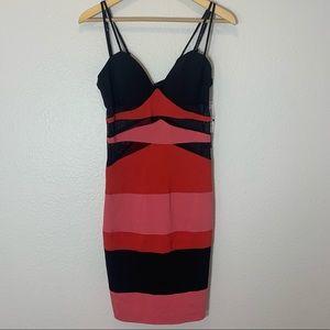 NWT XOXO Colorblock Bandage Dress Size S/M